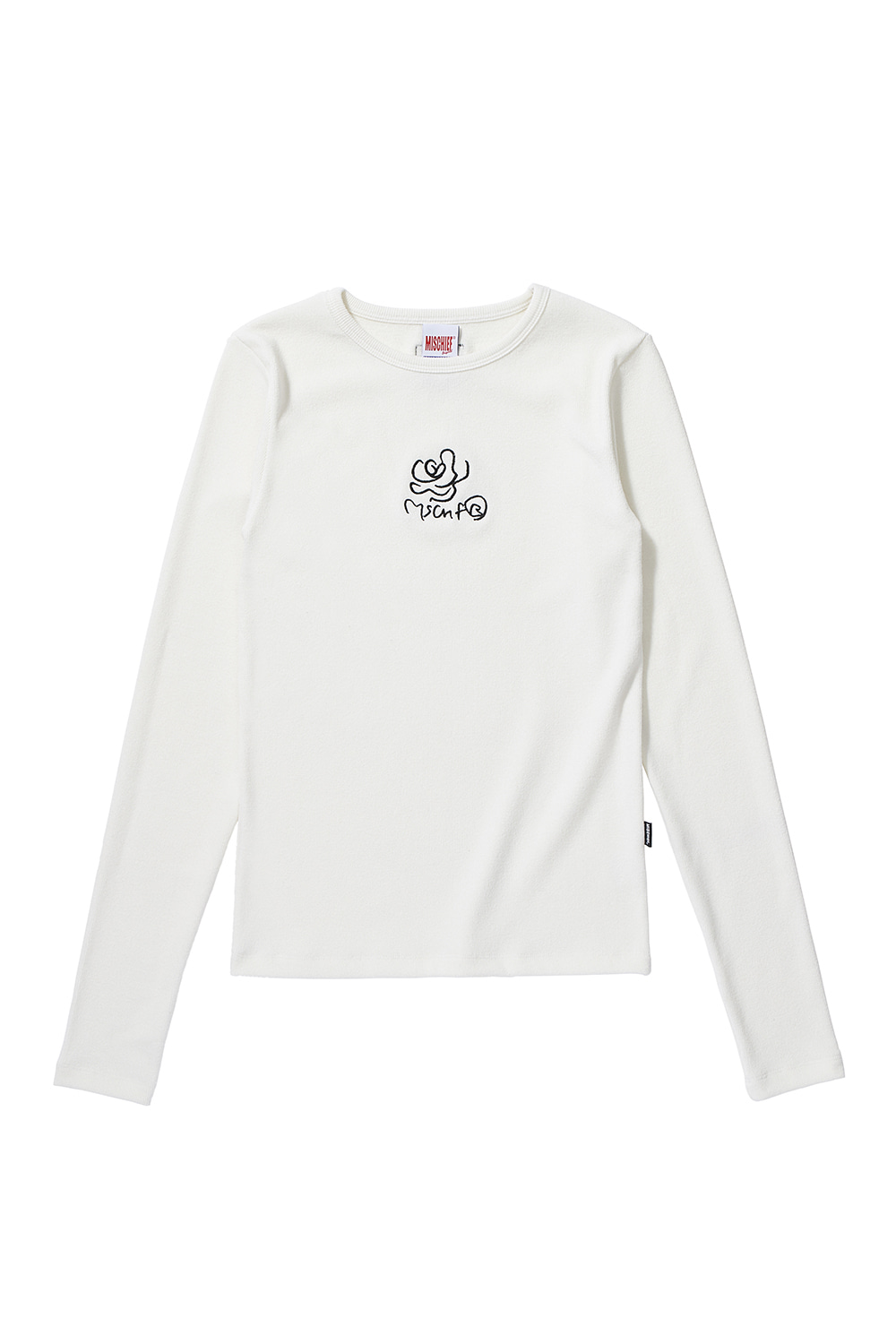FITTED ROSE LONG SLEEVE_white