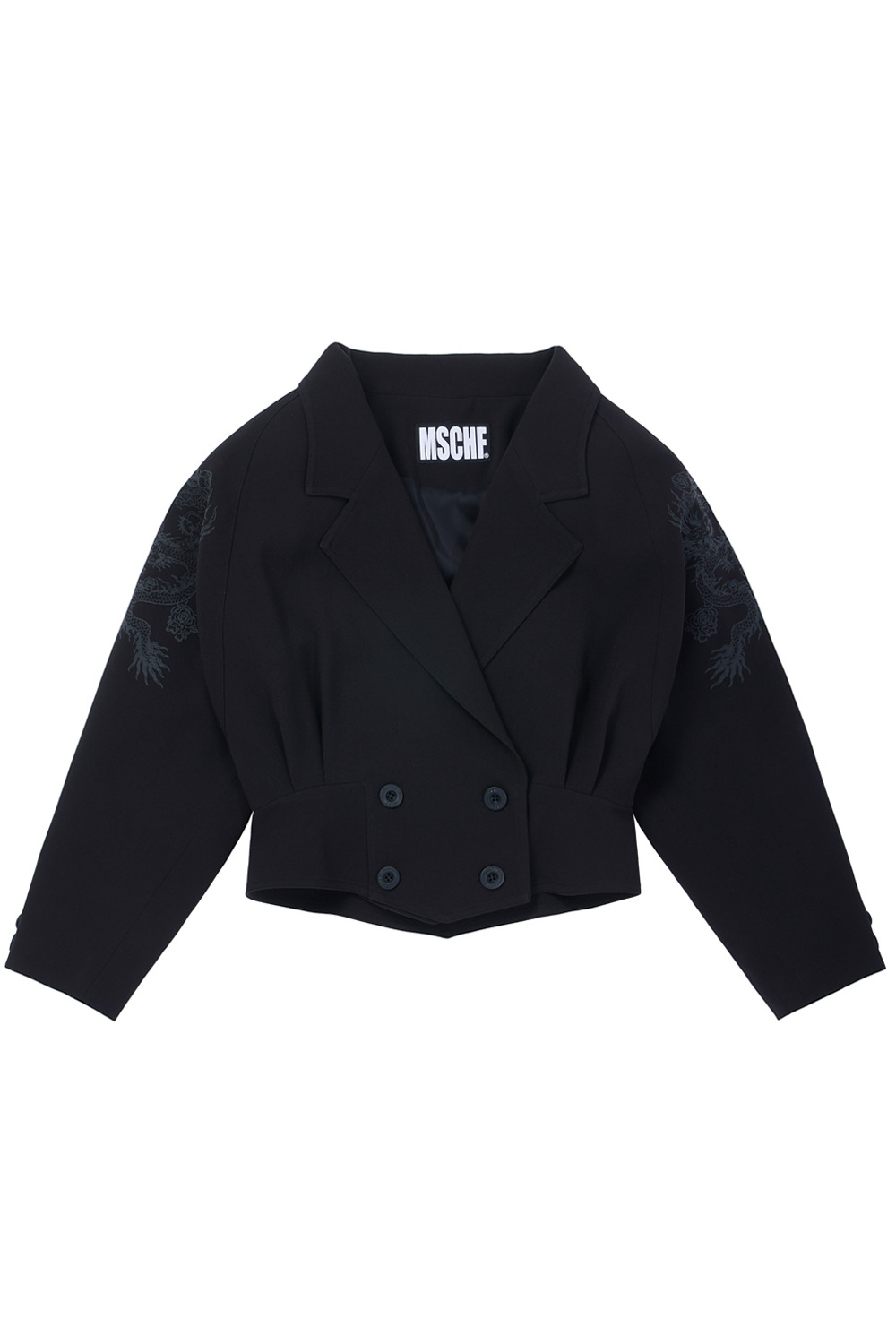 DOUBLE BREASTED DRAGON JACKET_black